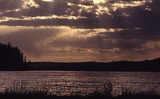 Shoshone Lake - Image: Shoshone Lake YNP1970