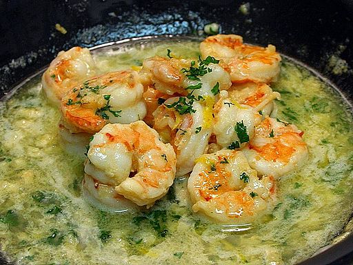 Shrimp scampi food