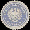 Siegelmarke Kön. Pr. Katasteramt Rotenburg W0334779.jpg