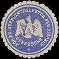Siegelmarke K.Pr. Superintendentur der Diocese Creuzburg W0379420.jpg