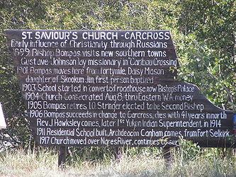 Sign 2 for Saint Saviour's Anglican Church, Carcross, Yukon.jpg
