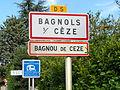 Signalisation Bagnols sur Cèze - Bagnou de Ceze.JPG