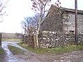 Signpost on path to Moor Lane at Bank Lathe - geograph.org.uk - 1198889.jpg
