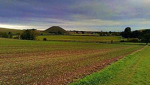 Silbury Hill - Silbury Hill, seen from the nearby hill on which West Kennet Long Barrow is located