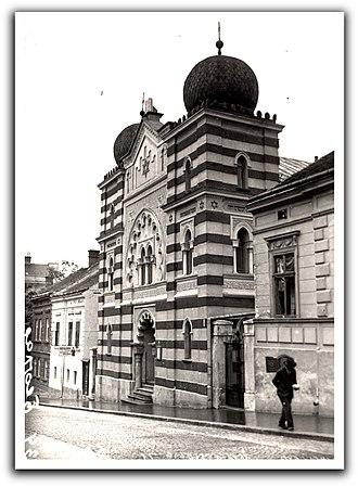 Dorćol - Beth Israel Synagogue, demolished in 1944