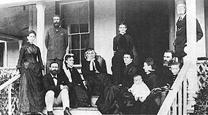 Aylmer Francis Robinson - Sinclair family at Makaweli House, 1893. The young Aylmer is on his mother's lap.