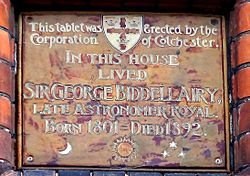 Photo of George Biddell Airy stone plaque