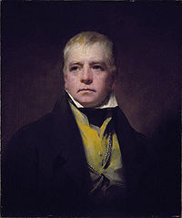 Raeburn's portrait of Sir Walter Scott in 1822.