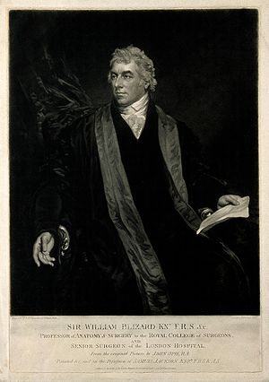 William Blizard - Sir William Blizard. Mezzotint by S. W. Reynolds