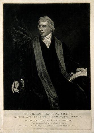 William Blizard - Sir William Blizard. Mezzotint by S. W. Reynolds