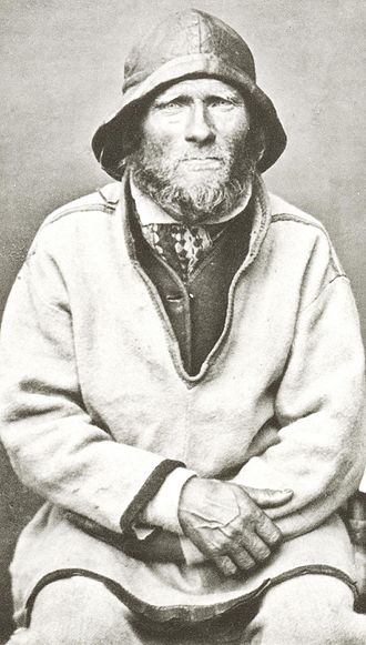 History of Scandinavia - Ivar Samuelsen, Sea Saami (Sami, Sapmi) Man from Finnmark in Norwegian Lapland.