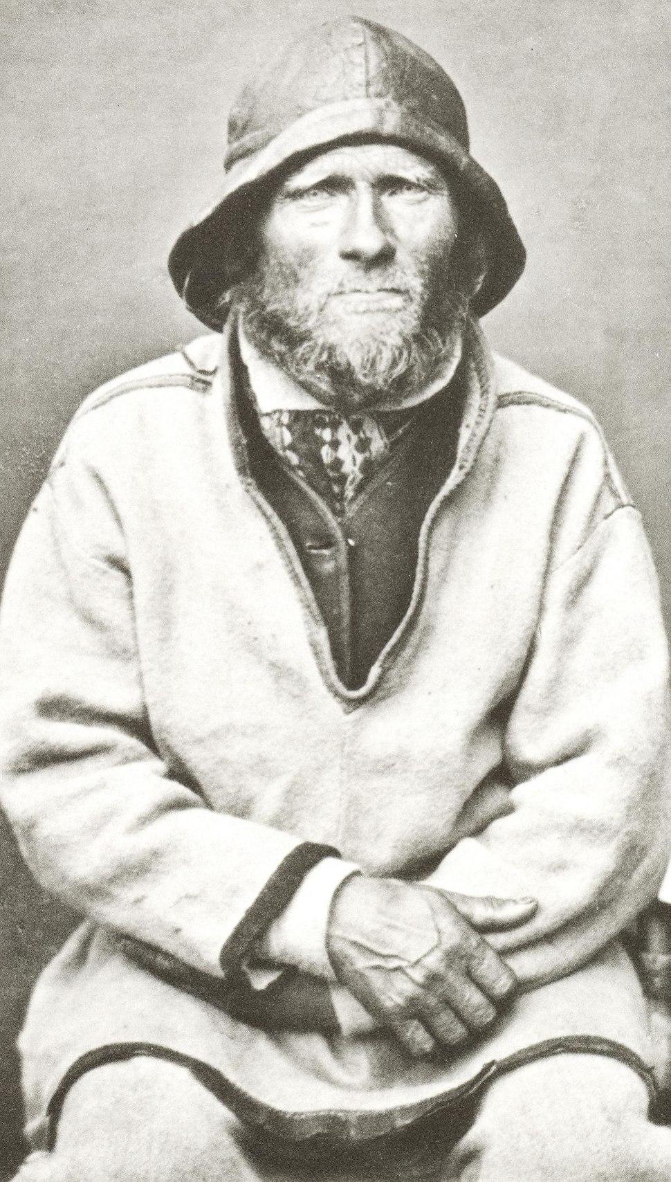 Sjøsamisk Mann Finnmark Norge Ivar Samuelsen 1884 av Bonaparte