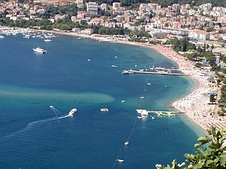 Montenegrin Littoral - Image: Slovenska Beach in Budva, Montenegro aa