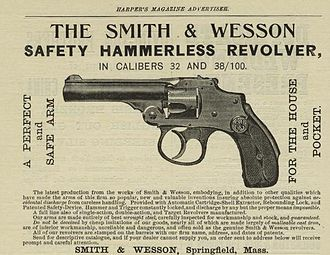 Smith & Wesson Safety Hammerless - Ad from 1899