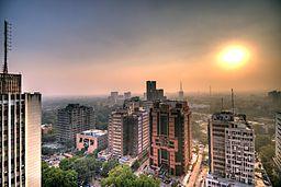 Connaught Place i New Delhi.