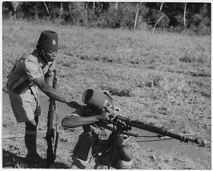 Belgian-Congolese Force Publique soldiers, 1943. Soldiers in the Belgium Congo - NARA - 197079.jpg