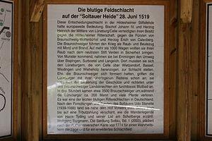 Battle of Soltau - Information board