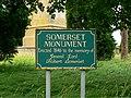 Somerset Monument signage, near Hawkesbury Upton - geograph.org.uk - 486961.jpg