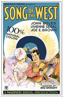 <i>Song of the West</i> 1930 film by Ray Enright