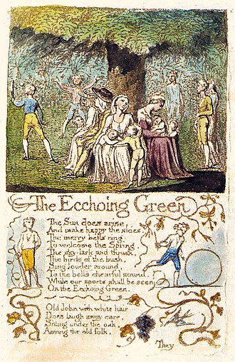 The Echoing Green - Image: Songs of Innocence and of Experience, copy C, 1789, 1794 (Library of Congress) object 13 (The Echoing Green)