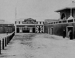 South End Grounds - Entrance ca.1900