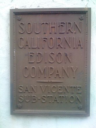 Southern California Edison - Sign for Southern California Edison Company San Vicente Sub station