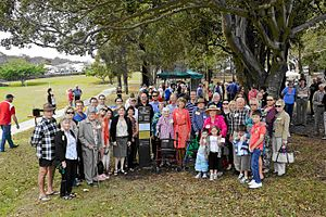 Bundall, Queensland - Family members at the dedication of the Southport Park Streets Heritage sign on 11 November 2012