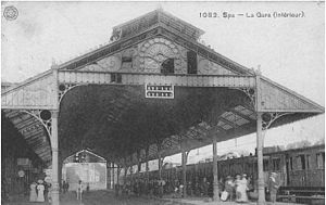 Spa, Belgium - Spa Railway Station 1900