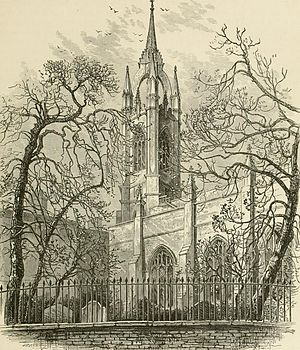 St Dunstan-in-the-East - St Dunstan's in 1891