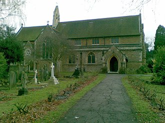 Long Ditton - St Mary's Church (in winter, built 1880.)