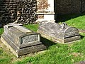 St Peter's church - graves by east wall - geograph.org.uk - 1547759.jpg