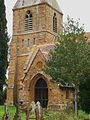 St Peter, Radway, tower.JPG