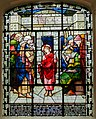 Stained glass window, All Saints' church, Gainsborough (18193290935).jpg