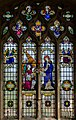 Stained glass window, St Lawrence church, Hawkhurst (15266429606).jpg