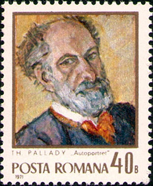 Theodor Pallady - Self-portrait on a 1971 Romanian stamp