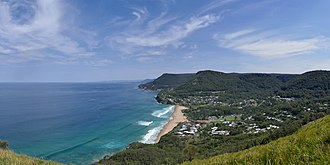 Bald Hill (Australia) - Image: Stanwell Park from Bald Hill