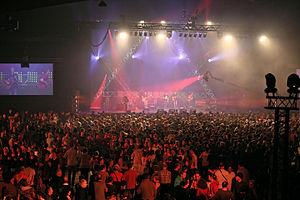 Fest Noz - 7000 dancers in Rennes for the Fest Noz Yaouank 2015 (Startijenn on stage).