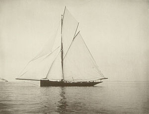 Partridge 1885 - Genesta The 1885 America's Cup Challenger designed by J. Beaver Webb as photographed by Nathaniel Livermore Stebbins was broken up in 1900.