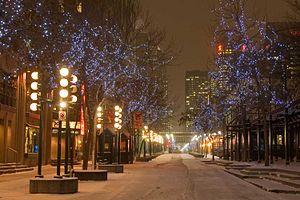 Stephen Avenue - Winter lighting on Stephen Avenue
