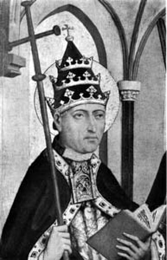 Pope Gregory II - Portrait of Gregory II, with anachronistic papal tiara
