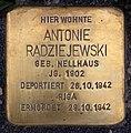 Stolperstein Friedrichshaller Str 28 (Schma) Antonie Radziejewski.jpg