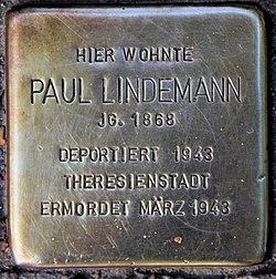 Photo of Paul Lindemann brass plaque