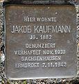 Stolperstein Lüdinghausen Olfener Straße 18 Jacob Kaufmann.jpg