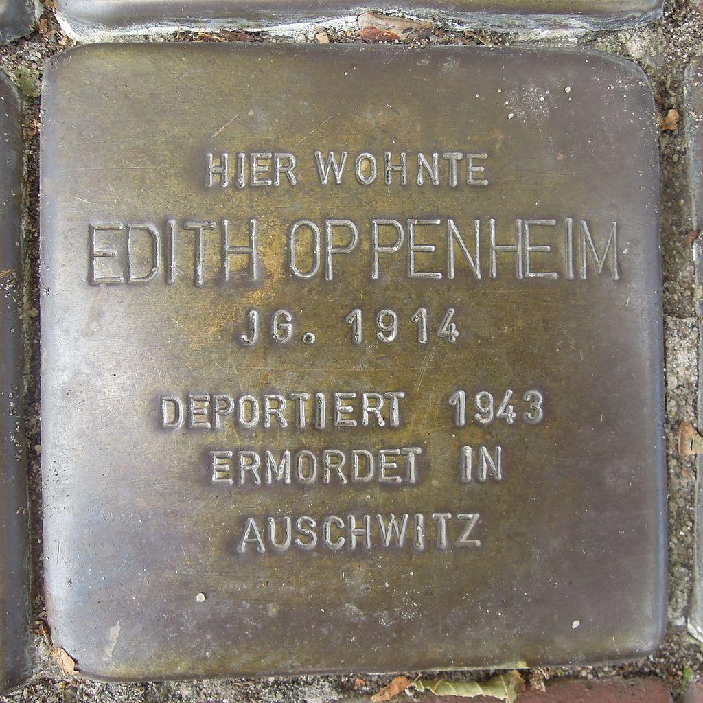 Stolperstein Petershagen Mindenerstraße 12 Edith Oppenheim