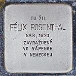 Stolperstein für Felix Rosenthal (Prievidza).jpg