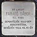 Stolperstein für Gabor Farago (Nyíregyháza).jpg