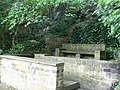 Stone seat by the Goitside walk, Kirkstall, Leeds - geograph.org.uk - 172523.jpg