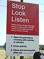 Stop look listen - geograph.org.uk - 558450.jpg