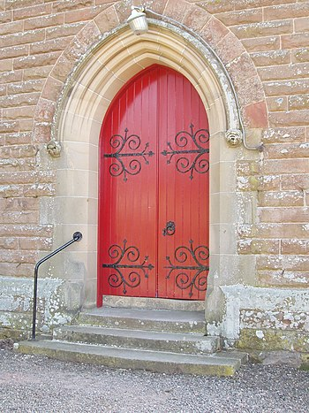 Red Door, Stow New Parish Church, Stow, Scotti...