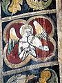 Stralsund Nikolaikirche - Fresko 2 Musizierender Engel.jpg